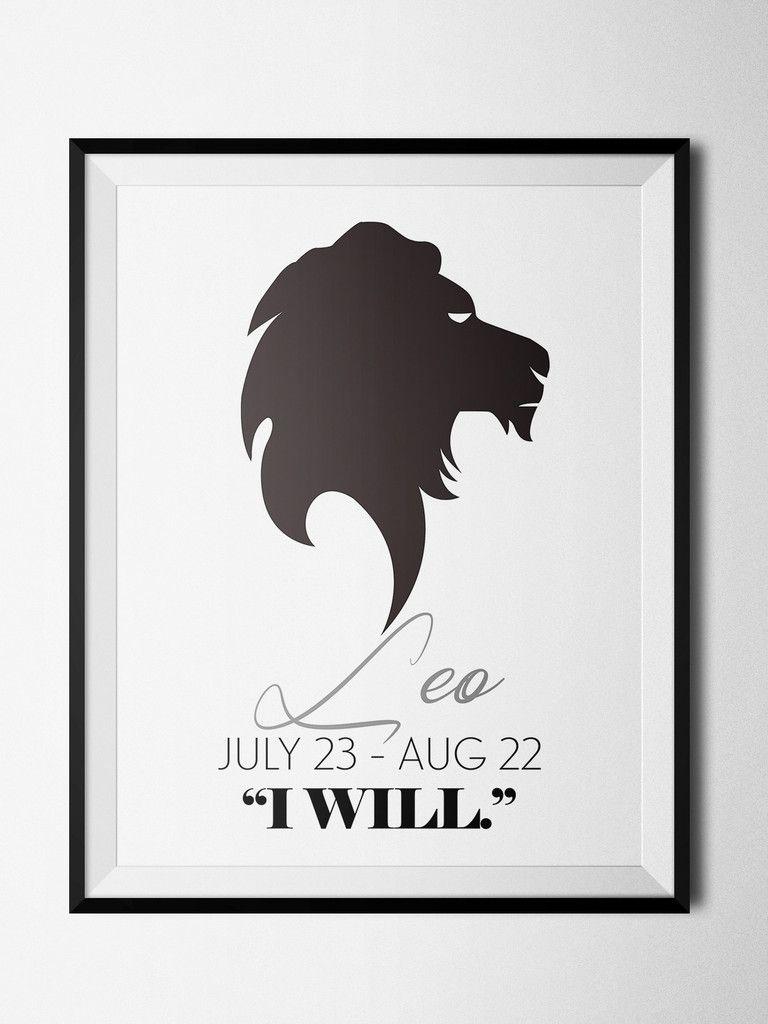 Leo Symbol Print Zodiaccity Shop Quotes Pinterest Leo Symbol