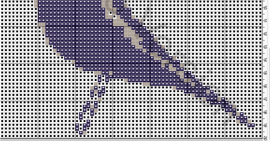 Cross Stitch Eams Bird