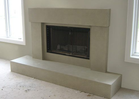 diy concrete fireplace - Google Search | fireplace | Pinterest ...