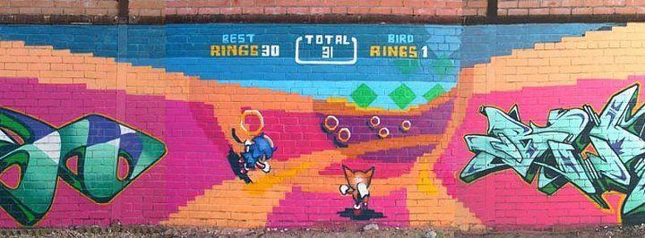 Sonic The Hedgehog Graffiti On Global Geek News