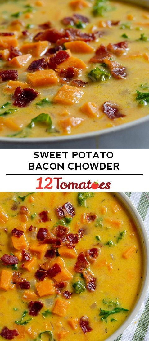 Sweet Potato Bacon Chowder
