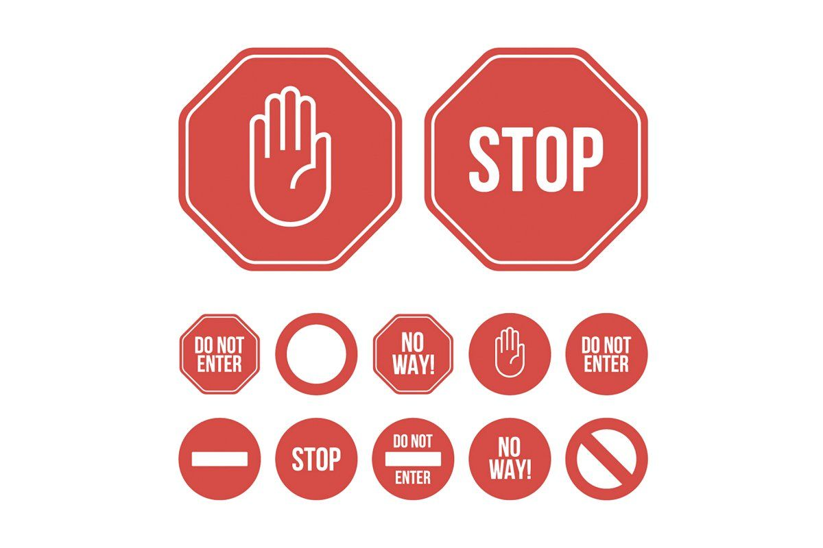 Stop Sign Icon And Pictogram In 2020 Brochure Design Template Pictogram Stop Sign