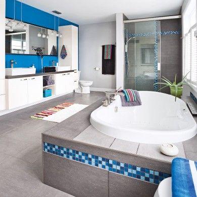 Bleu égéen pour la salle de bain - Salle de bain - Inspirations - Décoration et rénovation - Pratico Pratique