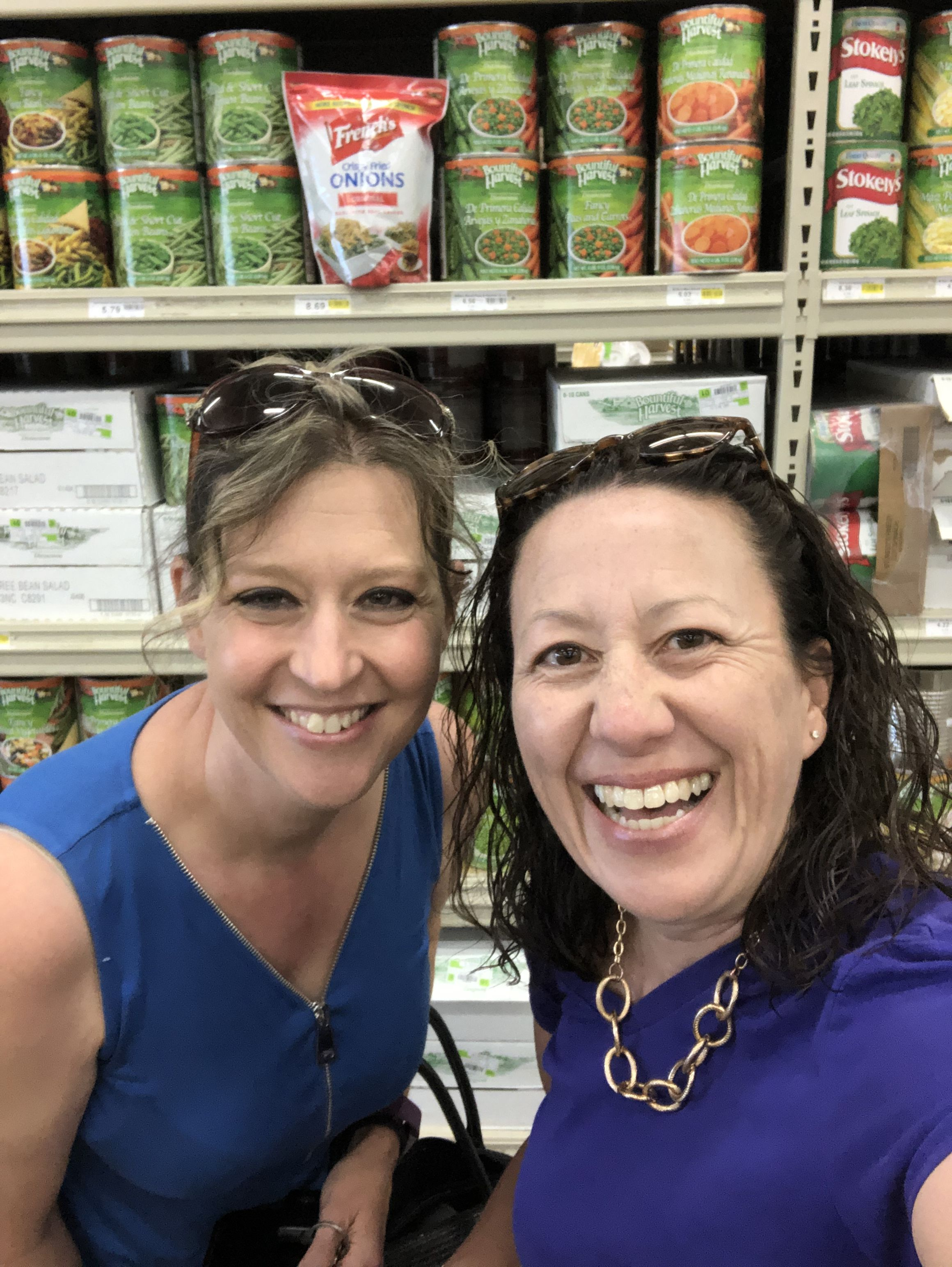 Here we are! 2 volunteer committee members shopping for ...
