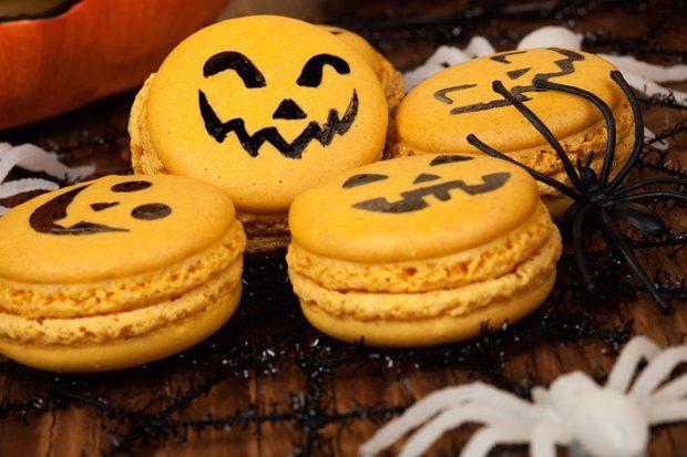 Halloween Macarons - Rezept
