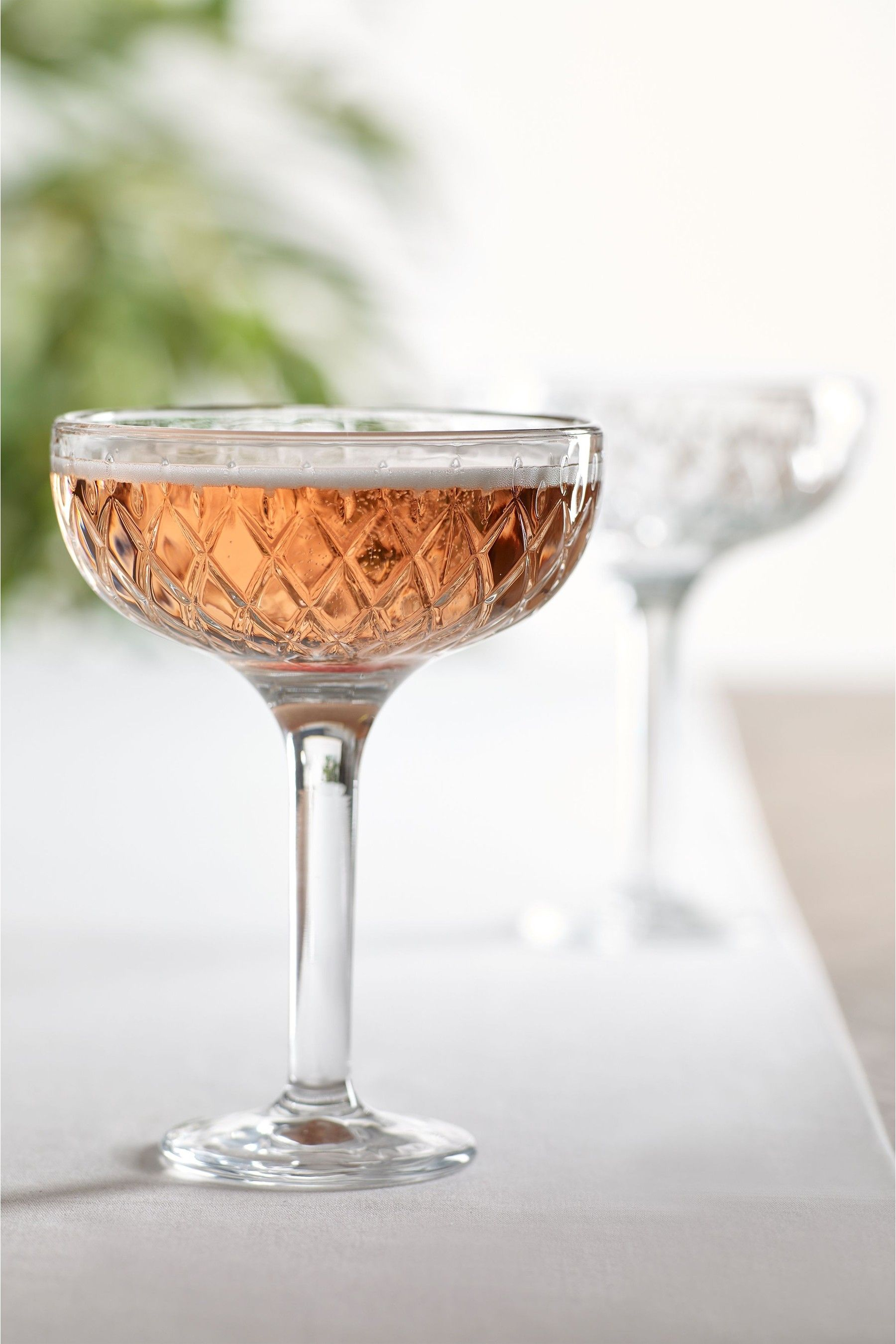Next Averie Set of 2 Champagne Saucers Clear in 2020