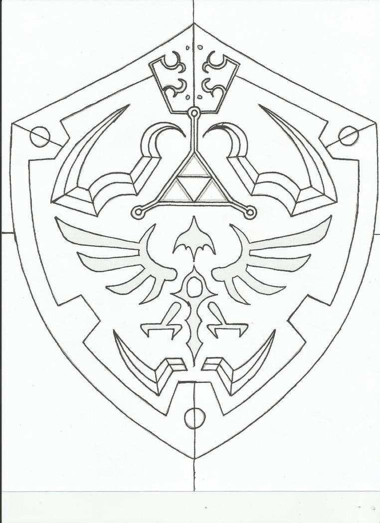 Hylian Shield Template By Revandarque On Deviantart Zelda Tattoo Shield Template Legend Of Zelda Tattoos