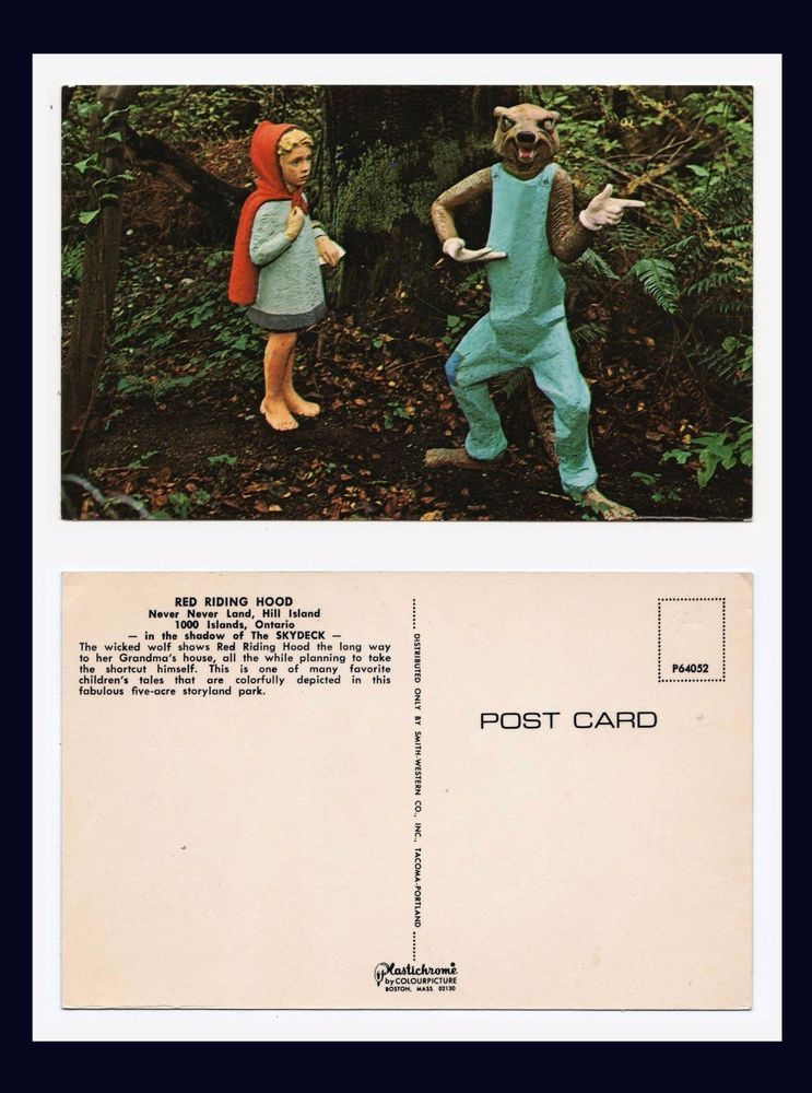 CANADA ONTARIO 1000 ISLANDS HILL ISLAND NEVER NEVER LAND RED RIDING HOOD CA 1965