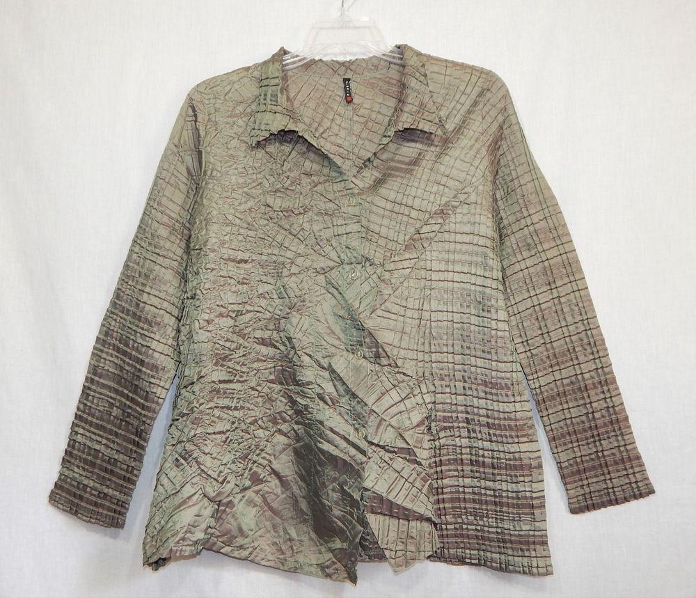 Babette Womens Tunic Small S Lagenlook Art To Wear Shirt Top Perma