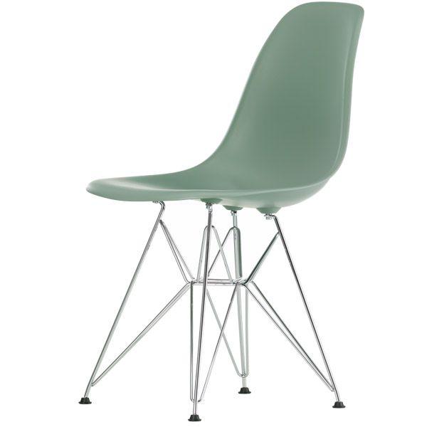 Eames DSR tuoli korkea, moss grey/kromi