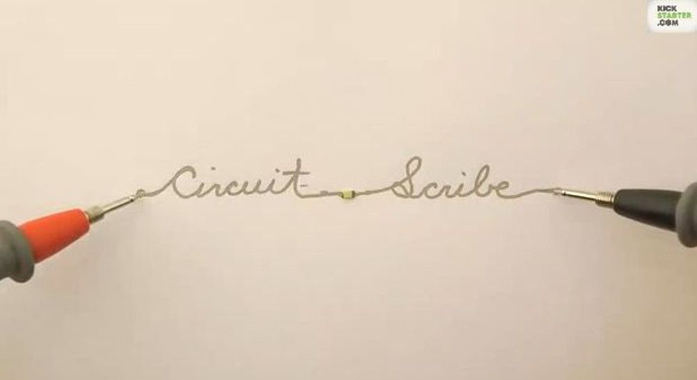 Can you imagine being able to draw working electronic gadgets with nothing but a pen and paper? The paper is ordinary, everyday paper. But the pen is special! Its conductive ink lets you draw functional electric circuits on almost any surface!