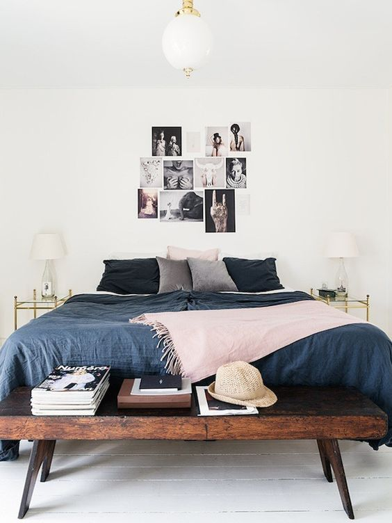 minimalist bedroom | end of bed bench | DESIGN INSPO in 2019 ...