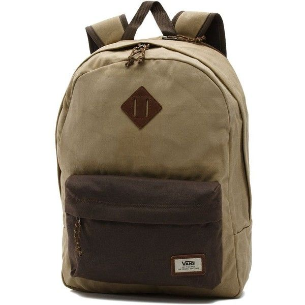 cbee0f3b05c Vans Old Skool Plus Backpack (€52) ❤ liked on Polyvore featuring men s  fashion, men s bags, men s backpacks and tan