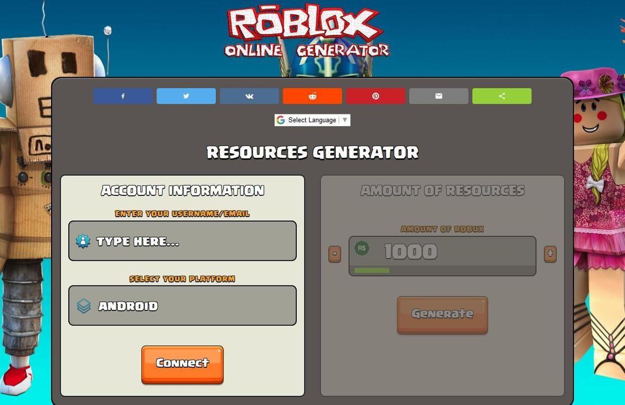 Free Robux Generator No Survey No Download No Human Verification