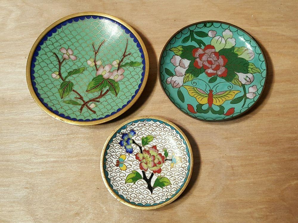Antiques Frank Cloisonné Plate