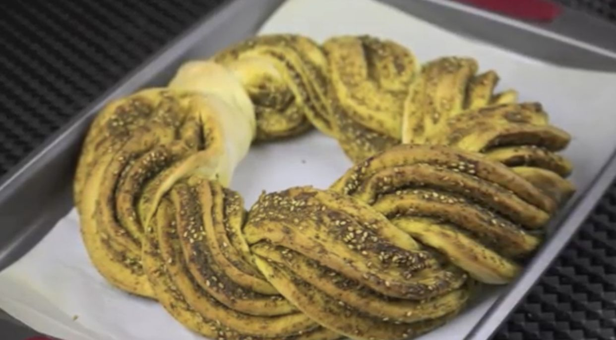 Zaatar home made bread   Braided bread, Cooking, Zaatar