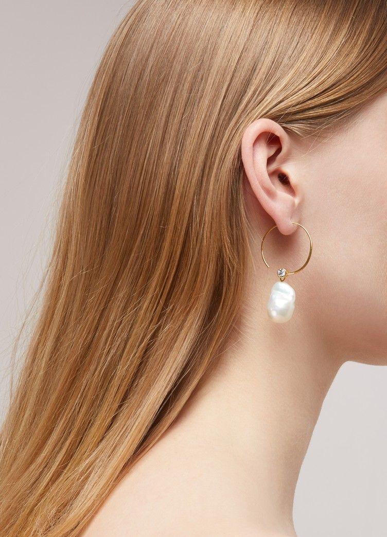 9ac659c4d Céline Baroque hoops Celine Earrings, Pearl Earrings, Hoop Earrings, Diy  Jewelry, Jewelry