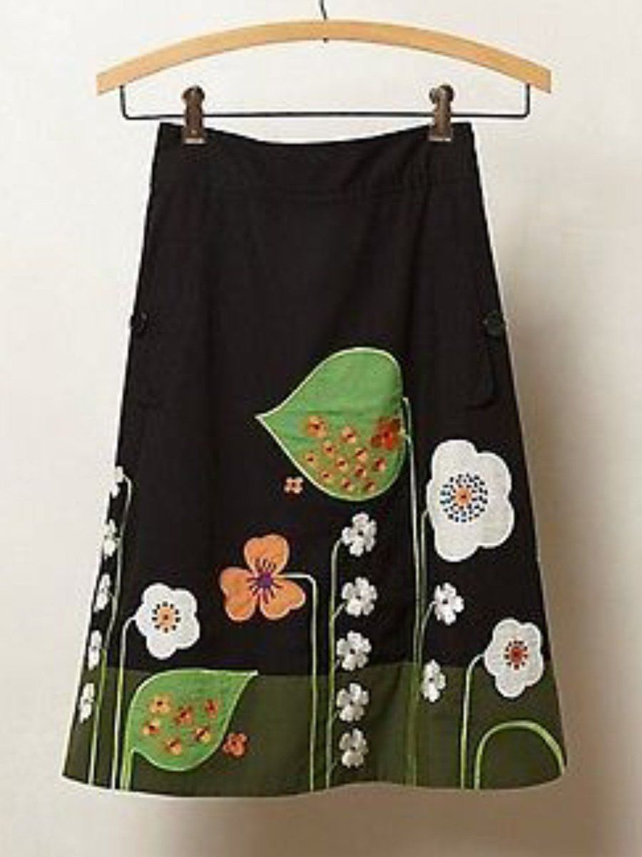 Floral-print Vintage Skirts