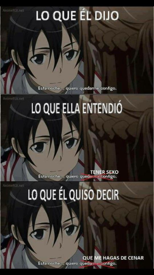 Anime Sword Art Online Anime Anime Memes Y Gracioso
