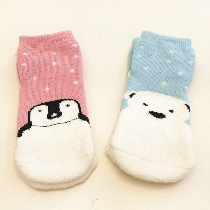 Click To Buy Kids Socks Warm Coral Fleece Baby Winter Socks