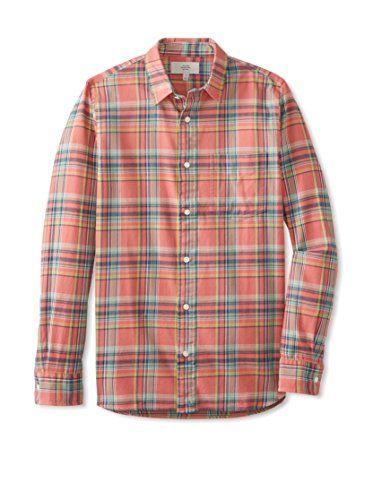 Jack Spade Men's Sanford Flannel Plaid Shirt (Red)