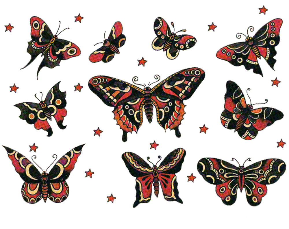 sailor jerry vintage designs moth butterfly