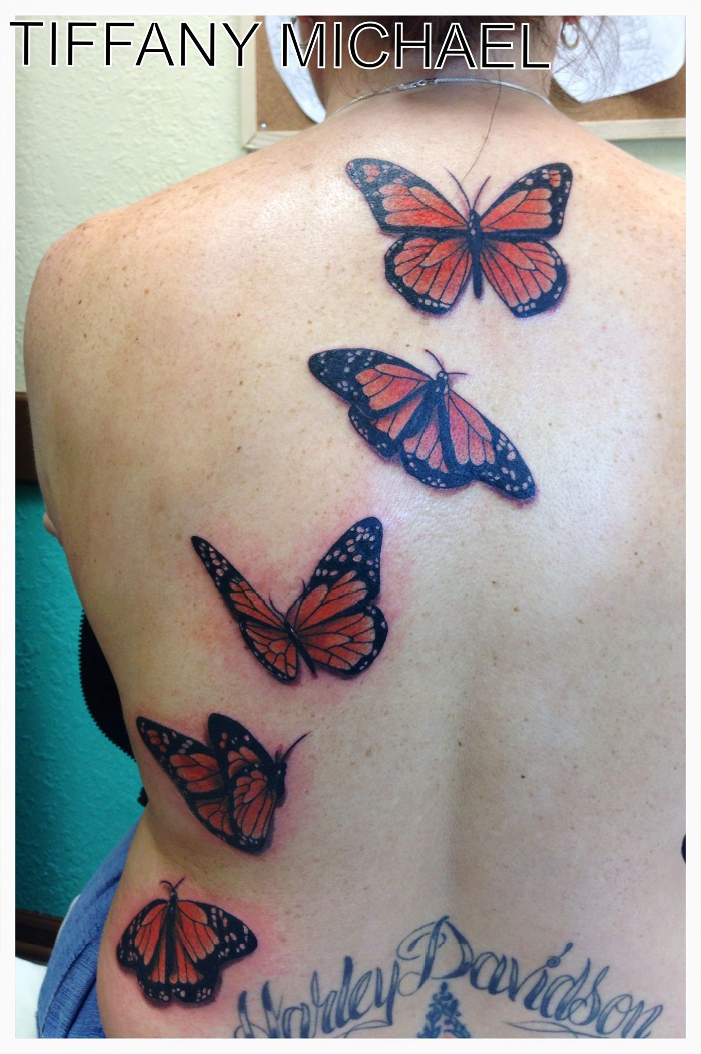 The o jays butterfly tattoos and clothes on pinterest - Monarch Butterfly Tattoo Running Up The Back