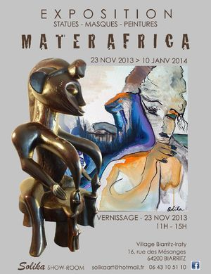 African Exhibit - Statues, Masks, Paintings