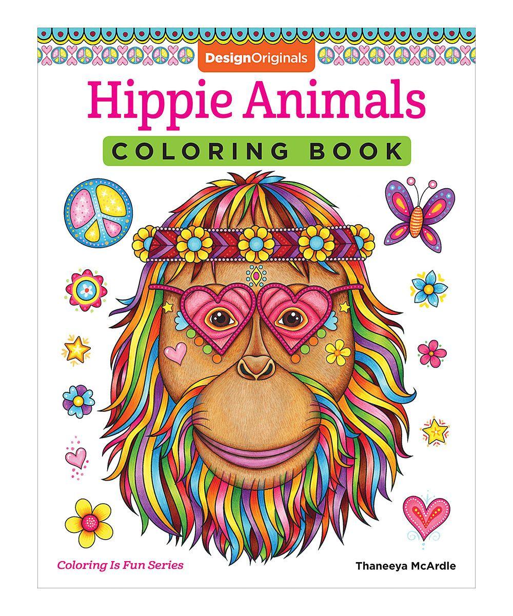 Hippie Animals Coloring Book