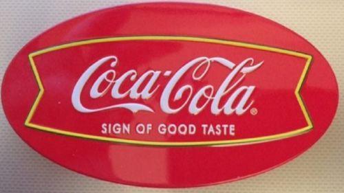Original-Classic-Coca-Cola-Plastic-Fridge-Magnet-4-Oval-Red-with-White-name