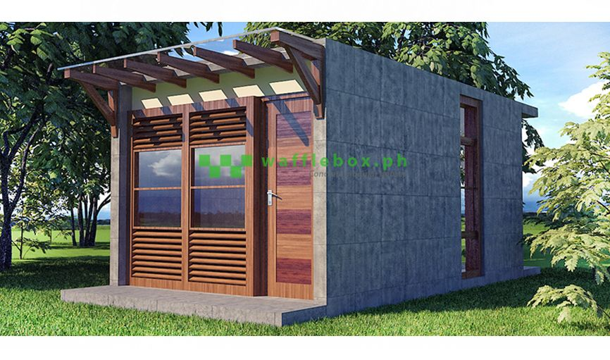 Tiny Home Designs: Waffle Box Building Technology Philippines:Less Cost,More