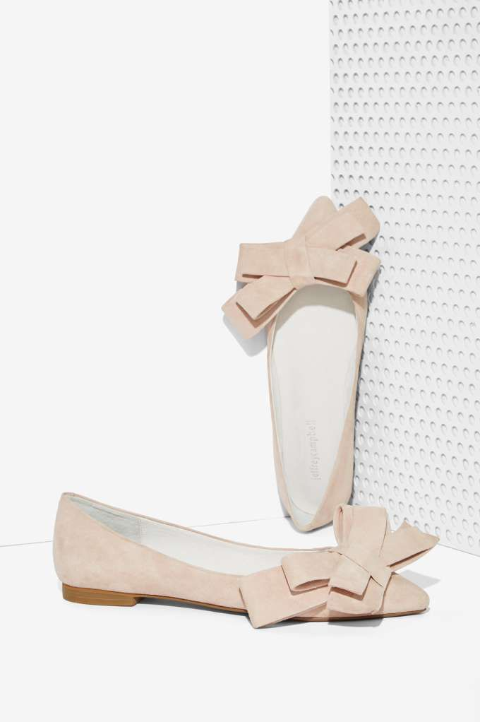 Jeffrey Campbell Ruston Suede Flat - Blush | Shop Shoes at Nasty Gal!