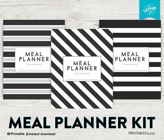 Meal Planner Printable Weekly Meal Planner Grocery list DIY - food inventory template