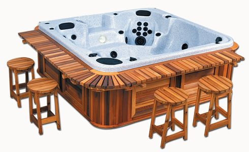 Yes Please Hot Tub Backyard Hot Tub Landscaping Hot Tub Bar