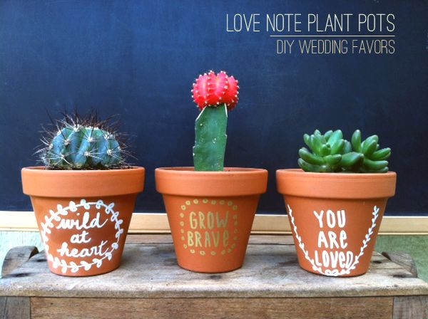 DIY Project: Love Note Plant Favors by Stockroom Vintage photo