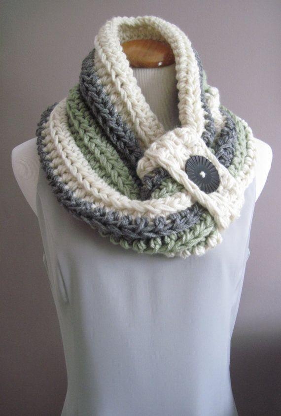 Chimenea botón trozos voluminosos Crochet por CrochetCluster ...