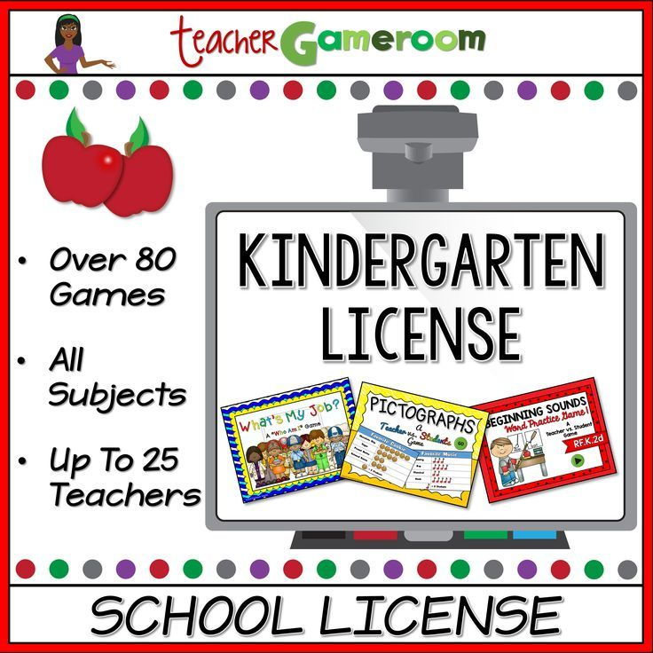 kindergarten powerpoint game bundle school license kindergarten