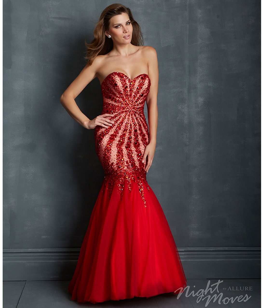 Red Mermaid Dress Prom - Ocodea.com