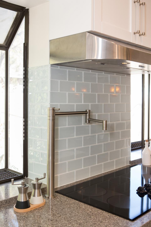 light gray matte finish subway tile