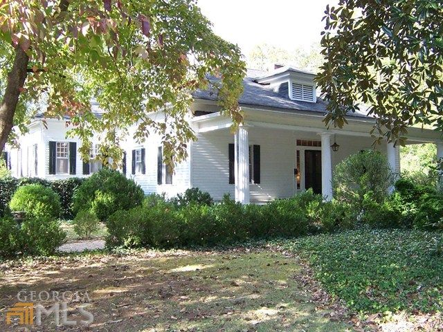 Georgia Mls Greek Revival Home Historic Homes For Sale House Exterior