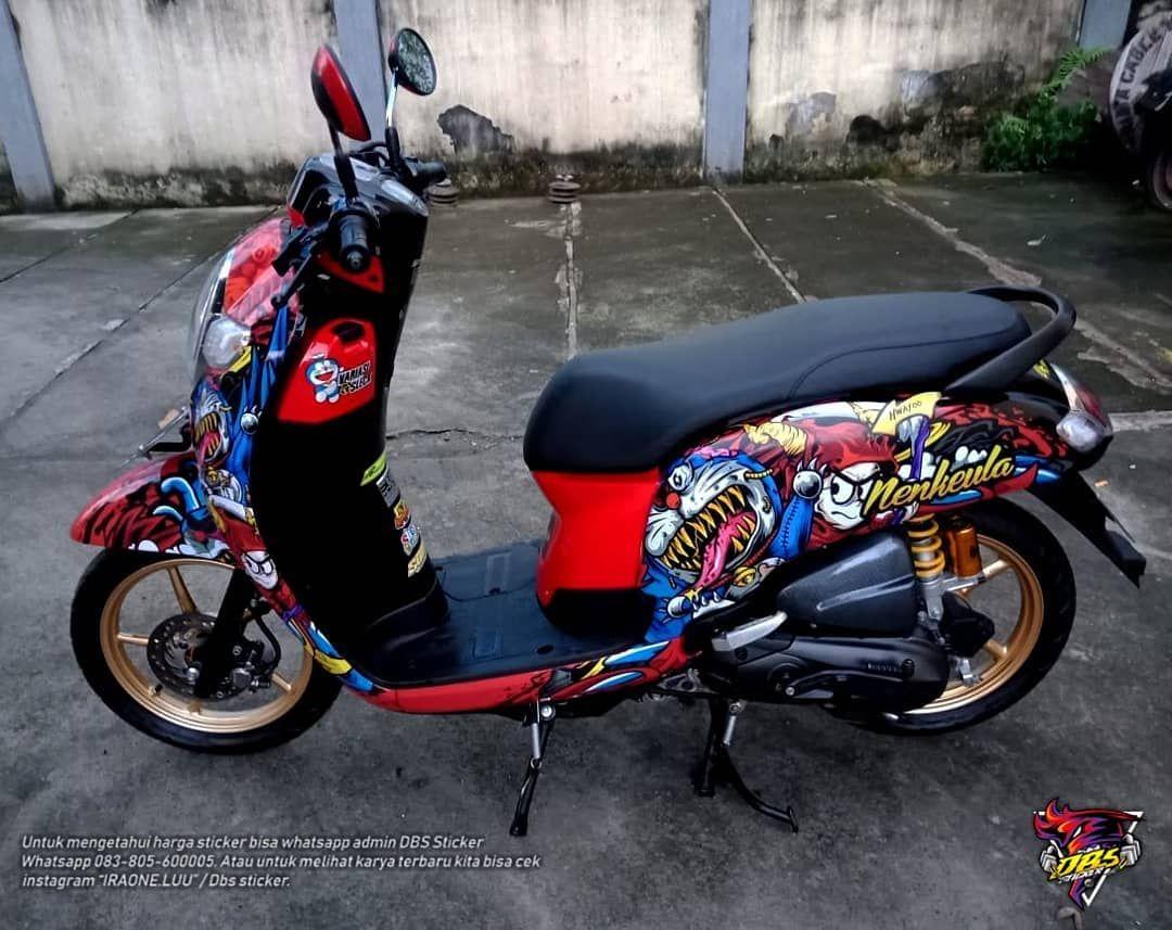 Print Sticker Honda Scoopy Tema Doraemon Zombie Thank S Boss