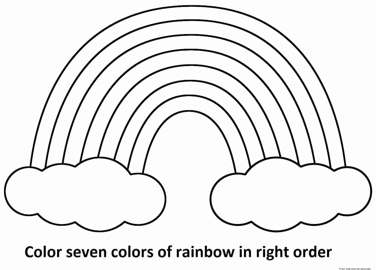 Printable Coloring Pages Rainbow Amazing Design