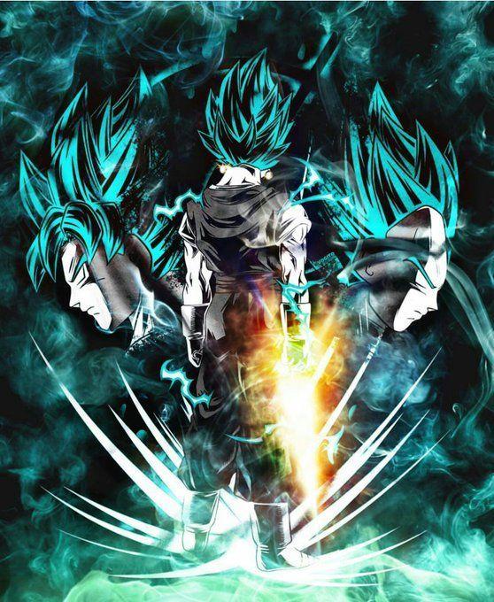 Dragones, Vegeta Ssj Blue Y Pantalla De Goku