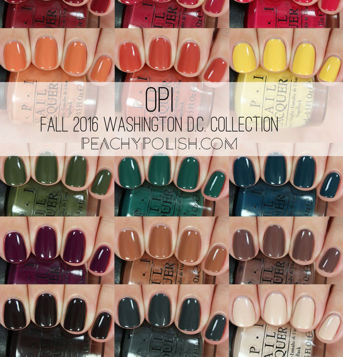 Opi Fall 2016 Washington D C Collection Peachy Polish Nails In 2019 Pinterest U 241 As De
