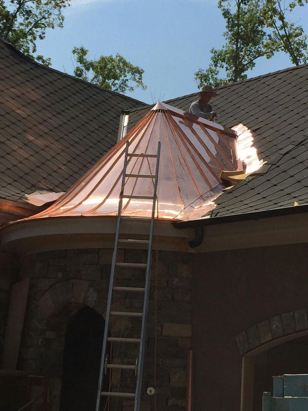 Somephoto Beautiful Tips For Guttersplanter In 2020 Copper In Architecture Copper Roof Metal Roof