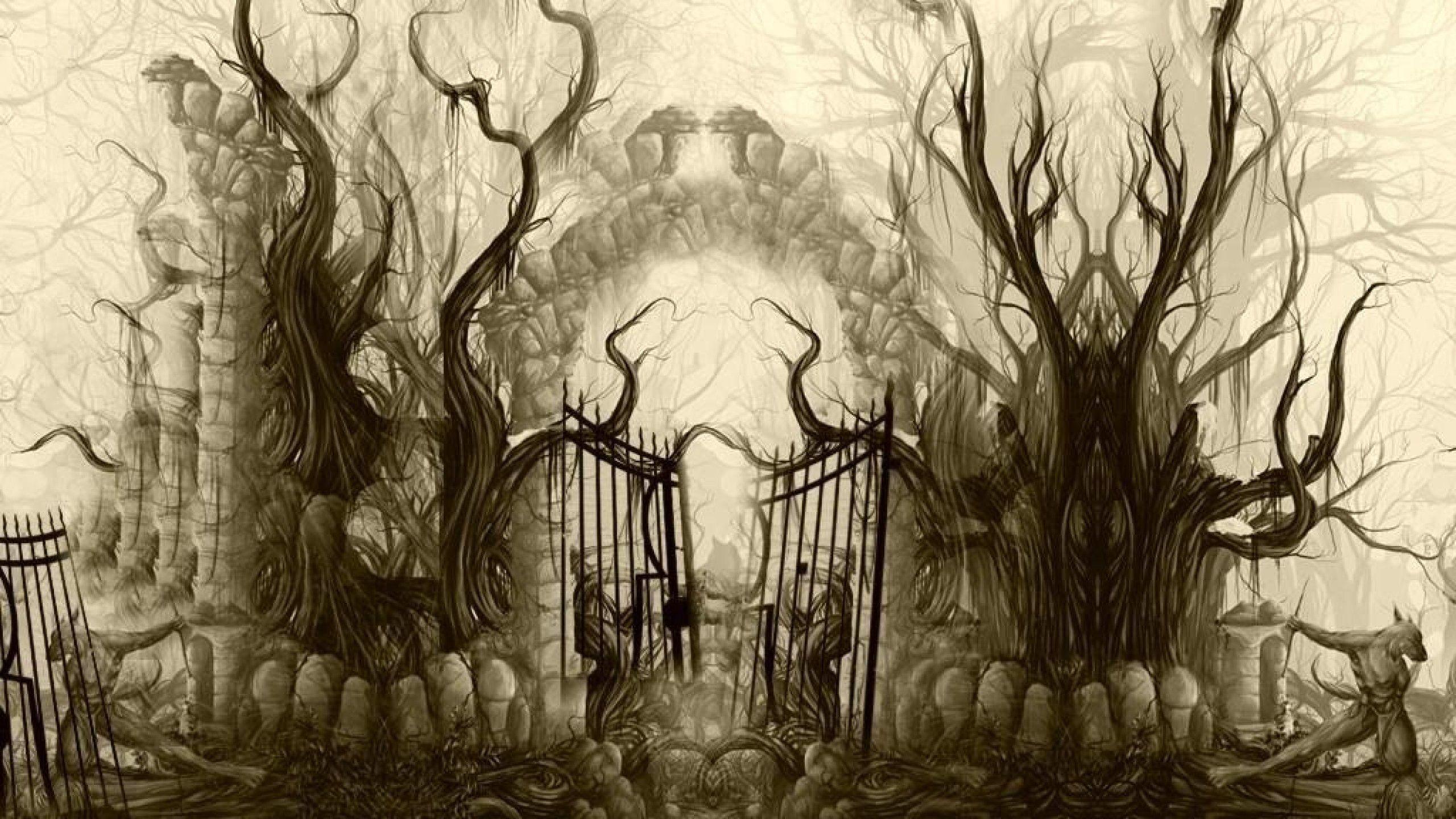 Cemetery Gates by richardro.deviantart.com on @DeviantArt ... | 2560 x 1440 jpeg 571kB