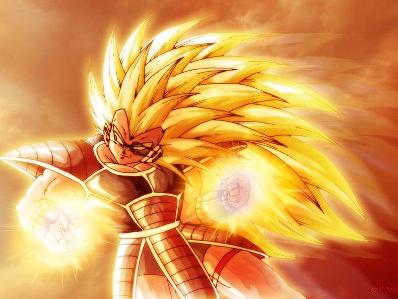 DBZ Raditz super sayian