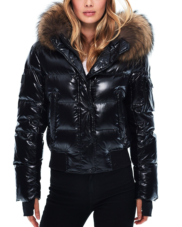 527a3932f3f SAM. Skyler Fur Trim Short Down Coat | looks in 2019 | Jacken ...
