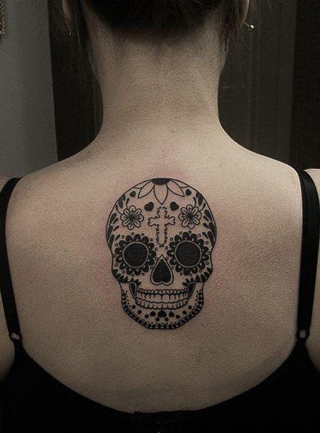 I Like The Shape Of This Skull Tattoo I Might Want Mine A Little Longer Skull Tattoo Mexican Skull Tattoos Body Art Tattoos