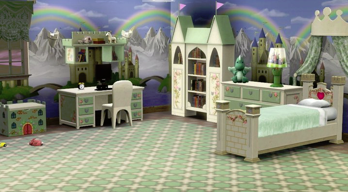 A Kid Bedroom Sims 3 Rooms Sims 4 Cc Furniture Kids Bedroom